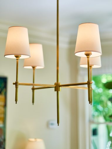 Designer light fixtures.
