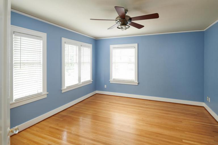 Bedroom wood floor windows home for sale Portland Oregon