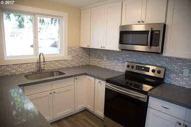 kitchen remodeled backsplash house portland oregon