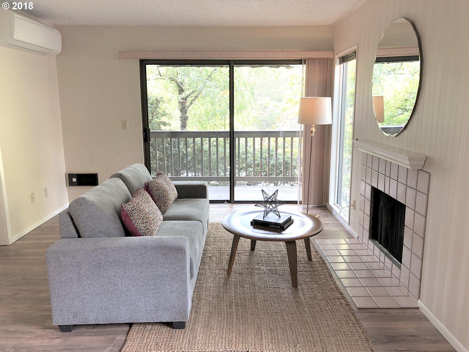 Living room condo fireplace for sale Portland Oregon realtor