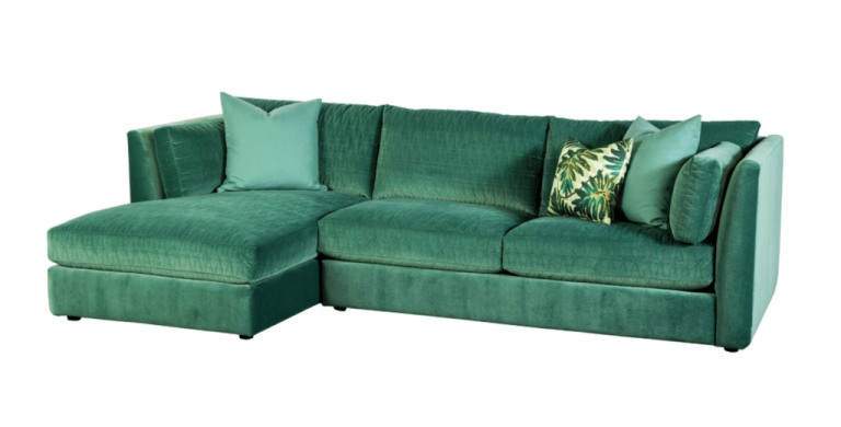Green sofa MOR portland real estate agent
