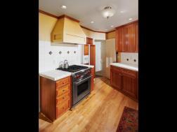 Kitchen stove wood floors