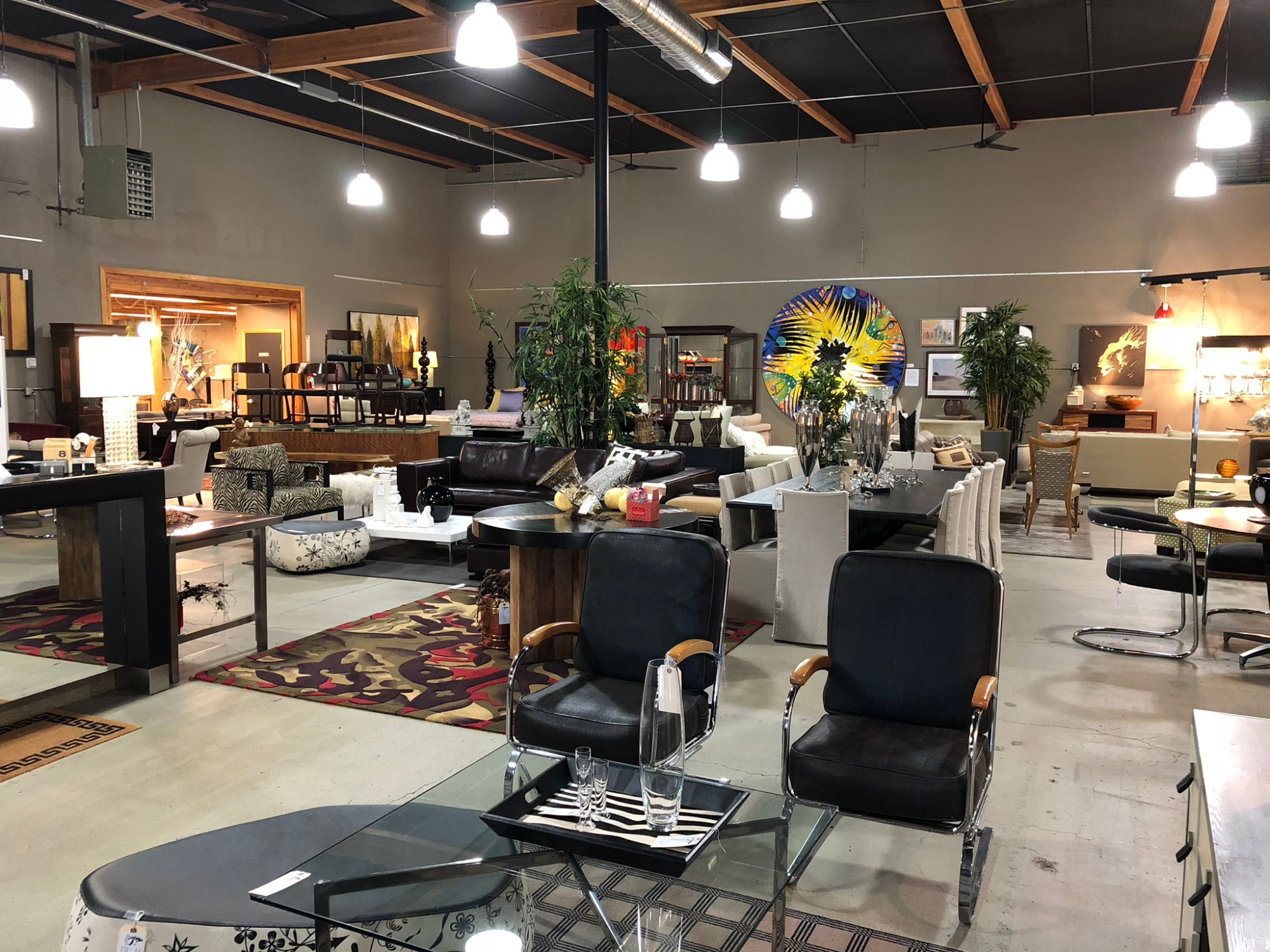 Seams to Fit furniture store interior in Northwest Portland