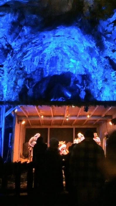 The Grotto manger scene in Portland Oregon