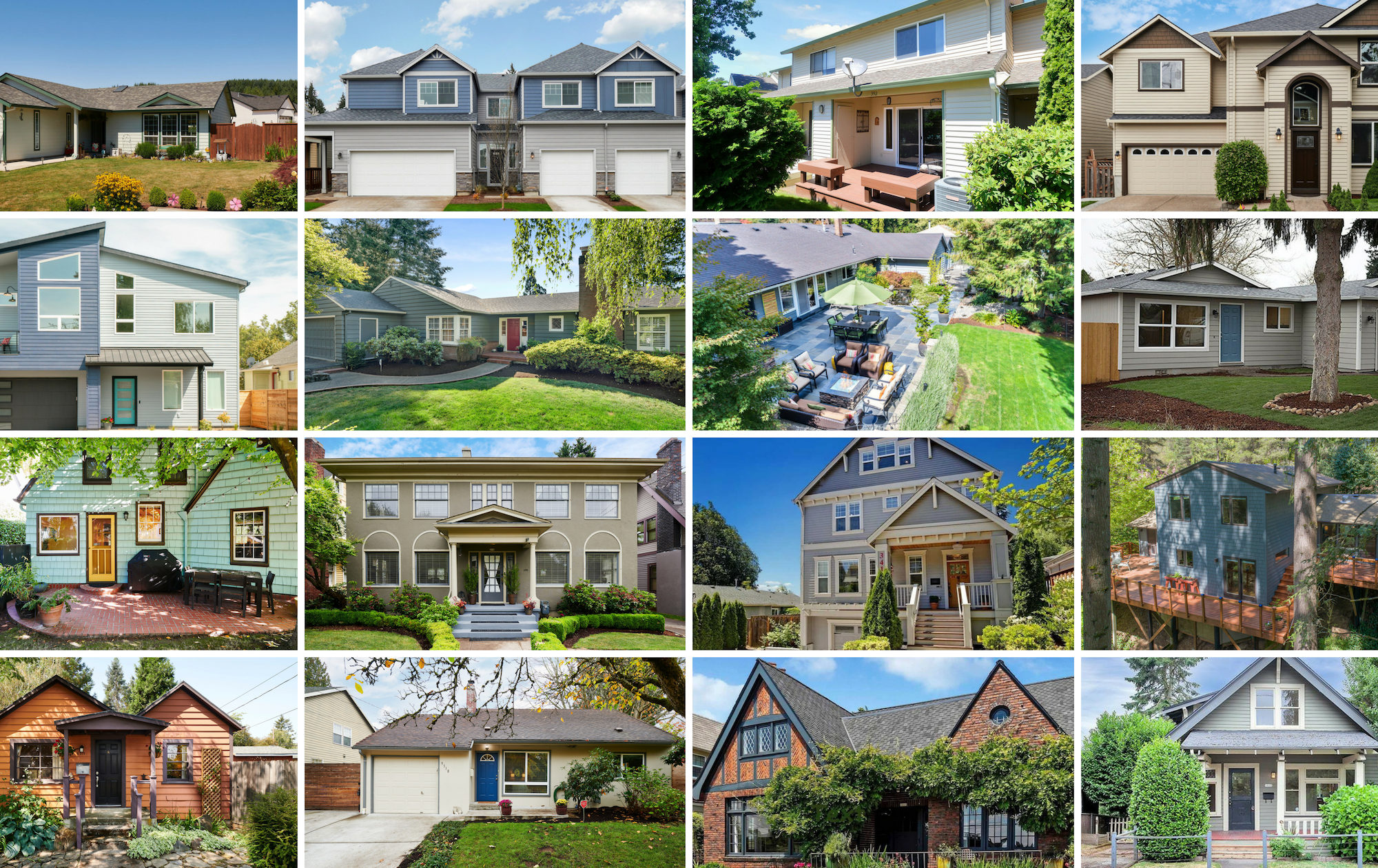 Exterior of homes in Portland and suburbs bought and sold by Susie Hunt Moran in 2018