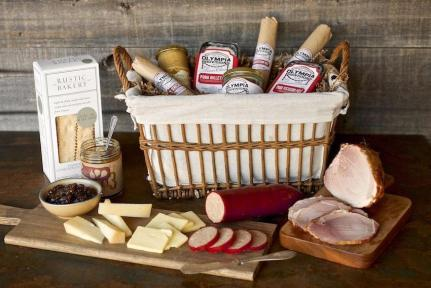 Charcuterie basket from Olympia Provisions Portland Oregon