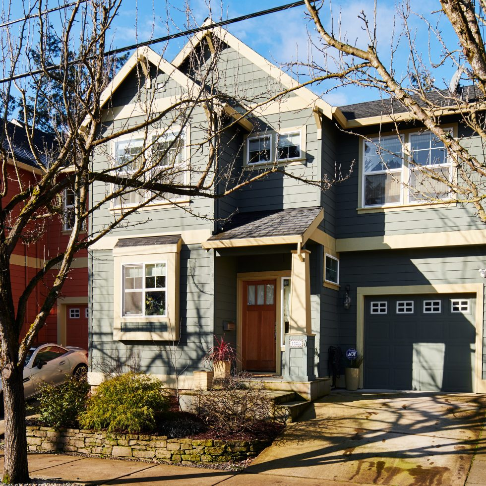 Townhouse exterior Mt Tabor Portland Oregon for sale Windermere