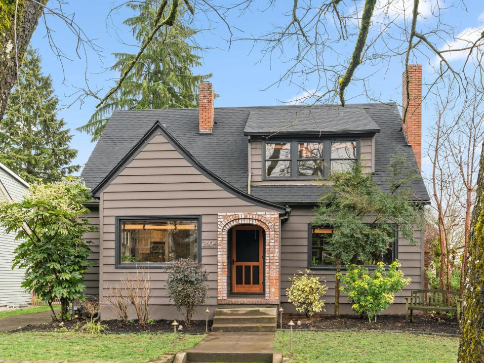 Grant Park English style home exterior Northeast Portland Oregon