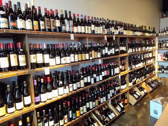 Wine selection at Providore