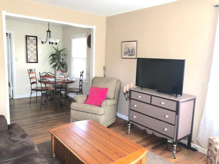 living room interior wood floor house for sale southeast Portland