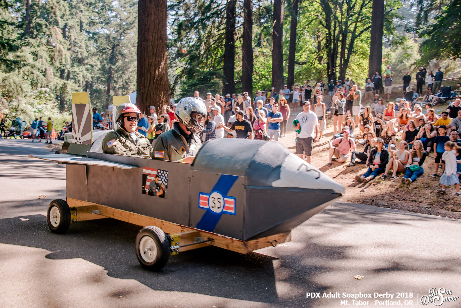 soapbox derby car on mt tabor portland oregon