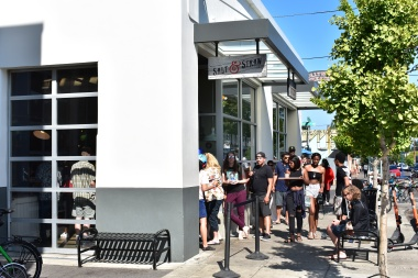 Always a line at Salt & Straw Ice Cream!