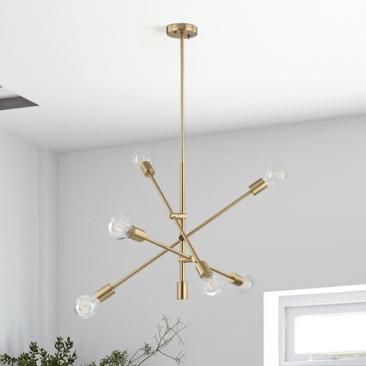 Mid century modern pendant cluster from Globe Lighting