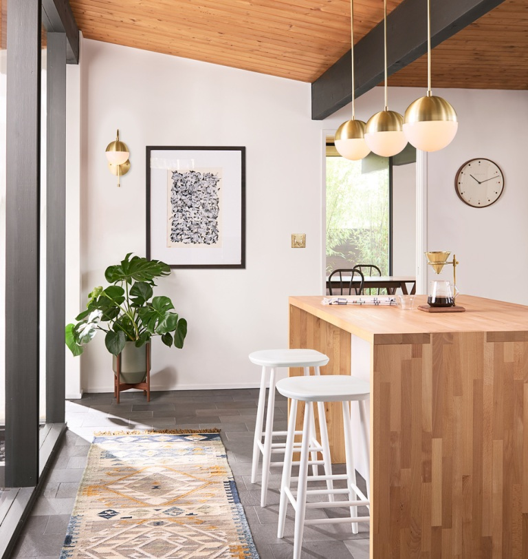 Cedar and Moss kitchen lighting from Rejuvenation