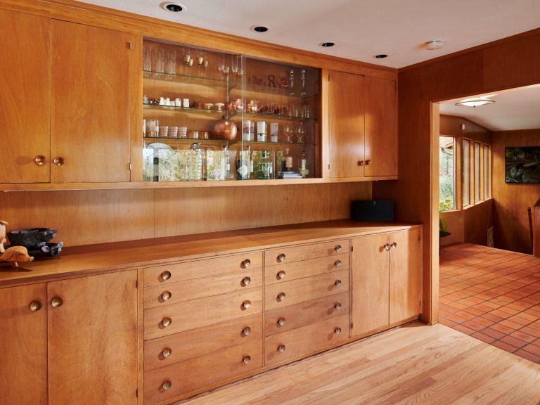 Mid-century modern Mahogany bar