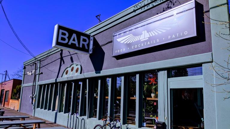 Thunderbird bar exterior sunny Southeast Portland