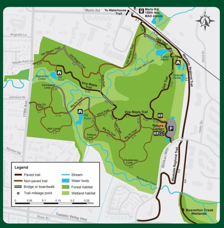 Tualatin Hills Nature Park trail map