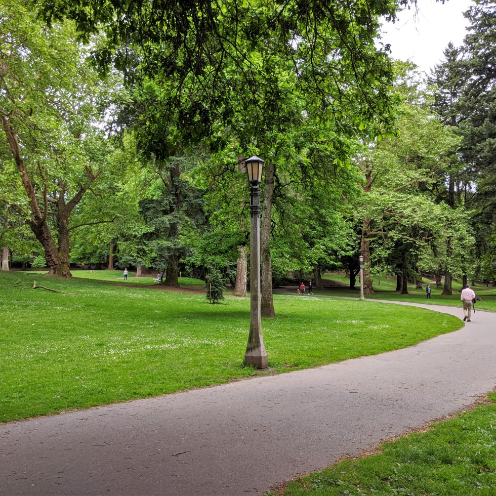 Laurelhurst Park pathway + grass